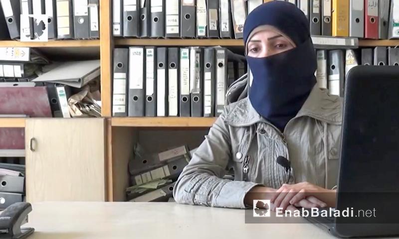 أسماء العبد الله، مديرة مكتب المرأة في مجلس حلب المحلي (عنب بلدي)