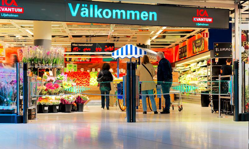 """سلسلة متاجر """"ICA"""" للمواد الغذائية في السويد (إنترنت)"""