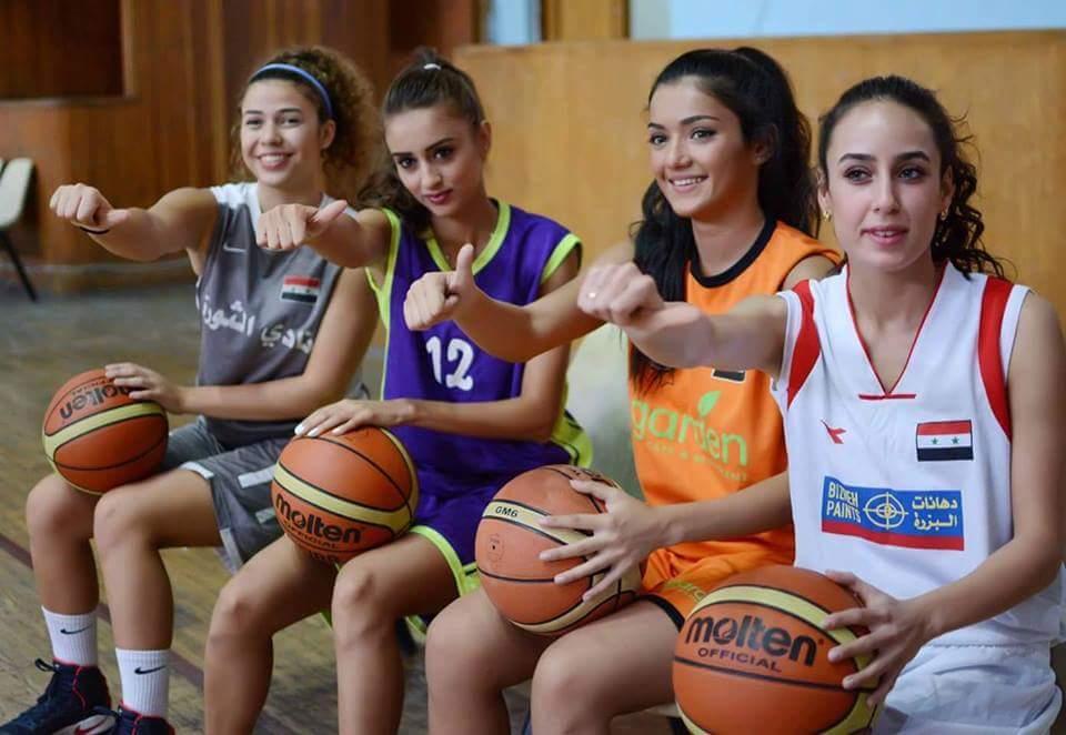 لاعبات في الدوري السوري لكرة السلة (فيس بوك)