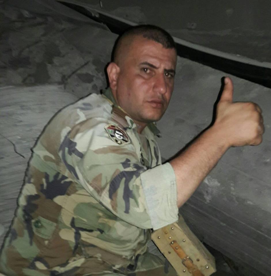 المقدم مهيب عزيز صافيا، المسؤول عن حفر الأنفاق وتفجيرها في حي القابون بدمشق (فيس بوك)