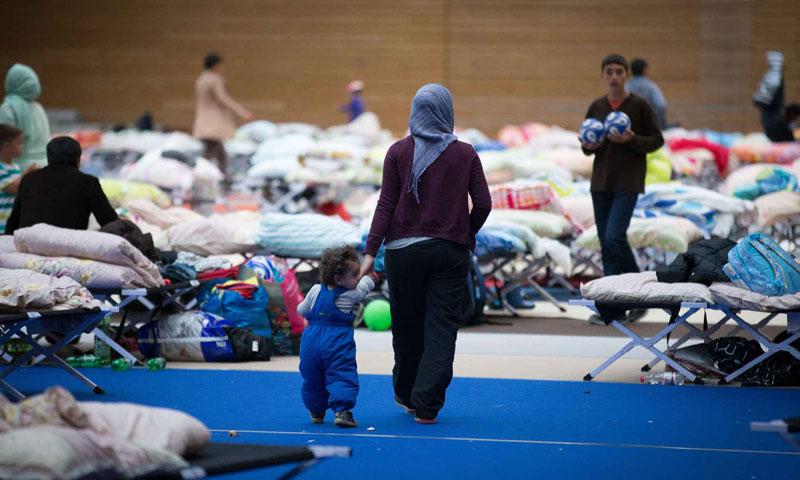 لاجئة سورية في مخيم في برلين 12 أيلول 2016 (AFP)