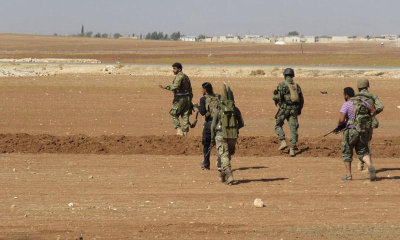 مقاتلو المعارضة أثنار الدخول إلى أخترين شمال حلب - 7 تشرين الأول (نور الدين الزنكي)