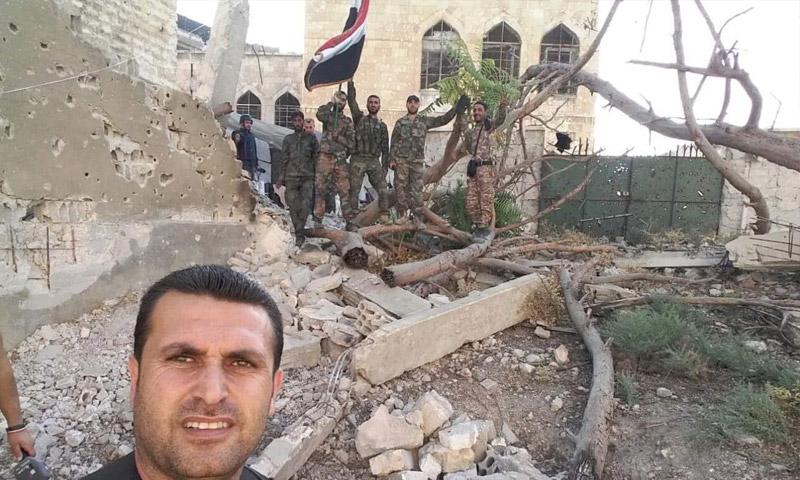 قوات الأسد في منطقة بستان الباشا داخل مدينة حلب (صفحات موالية للنظام السوري)