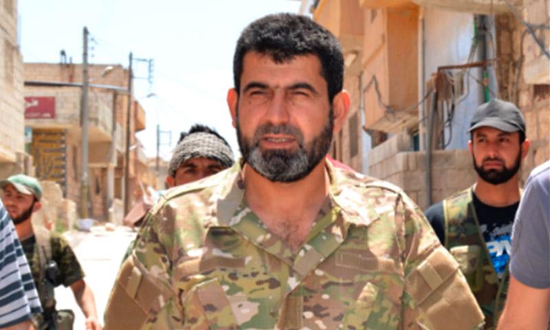 """قائد """"جيش المجاهدين"""" العامل في حلب، المقدم محمد جمعة بكور (تويتر)"""