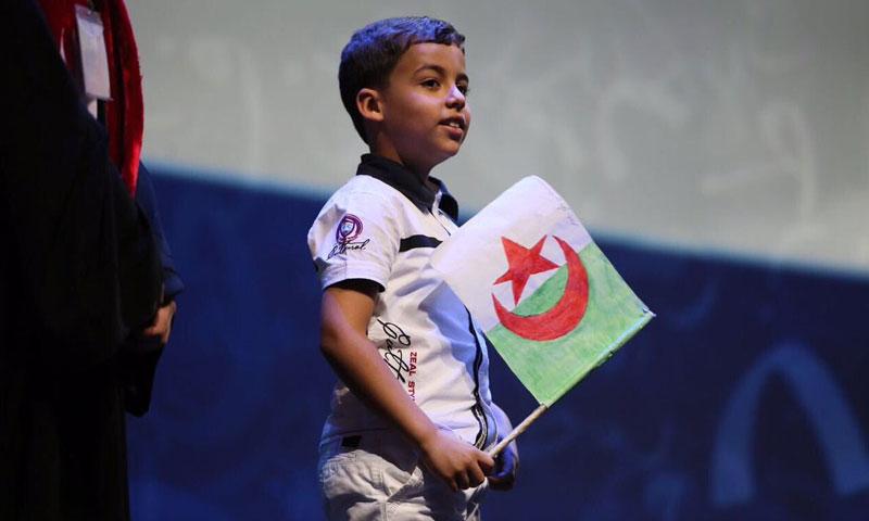 الطفل الجزائري عبد الله فرح جلود (وكالات)