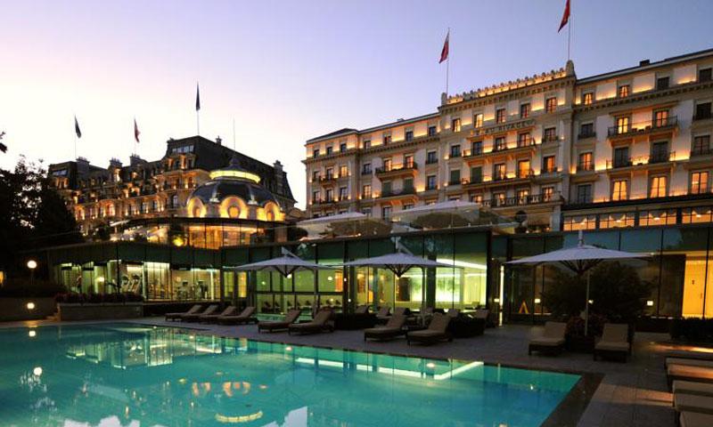 فندق بالاس بوريفاج في مدينة لوزان السويسرية