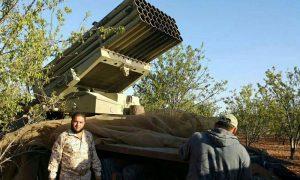 """استهداف مطار حماة العسكري بصواريخ """"غراد""""- الأحد 2 تشرين الأول (أحرار الشام)"""