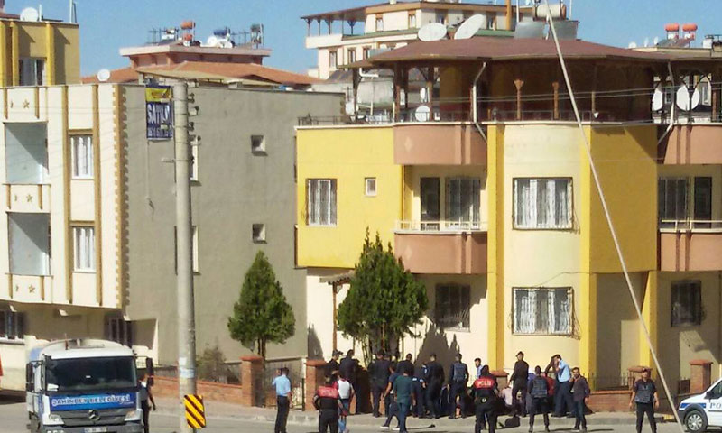 مكان التفجير في غازي عنتاب- الأحد 16 تشرين الأول (ناشطون)