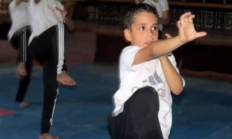 من تجهيزات انطلاق مهرجان الغوطة الرياضي - الخميس 6 تشرين الأول (الهيئة العامة للرياضة والشباب في سوريا)