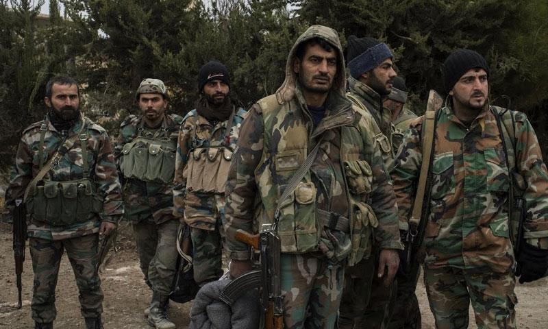 عناصر من قوات الأسد في ريف حلب (وكالات)