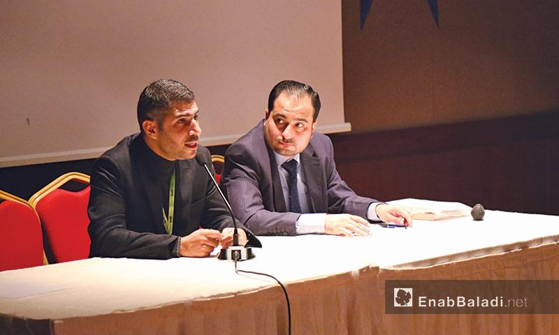 محاضرة من فعاليات الموسم العلمي الثاني في مدينة اسطنبول التركية - 27 تشرين الأول 2016 - (عنب بلدي)