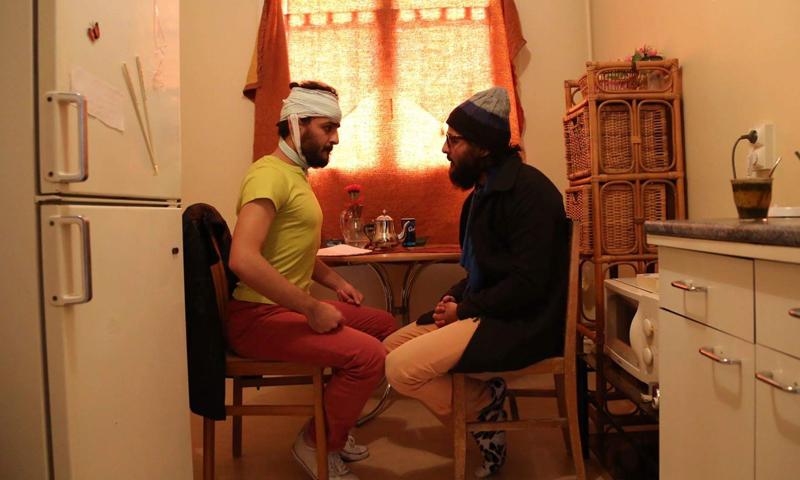 """من بروفات مسرحية """"اللاجئان"""" للأخوين ملص"""