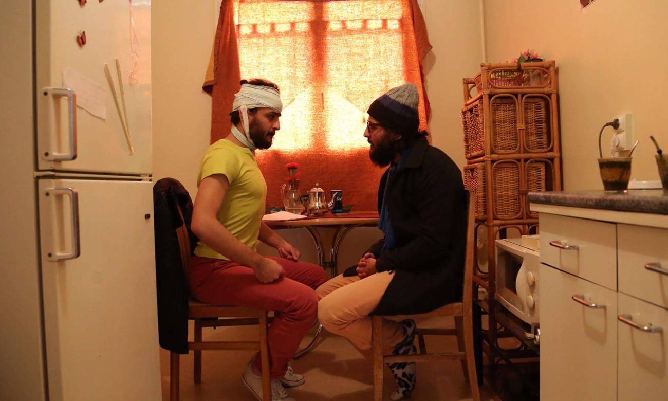 """من بروفات مسرحية """"اللاجئان"""" للأخوين ملص (عنب بلدي)"""