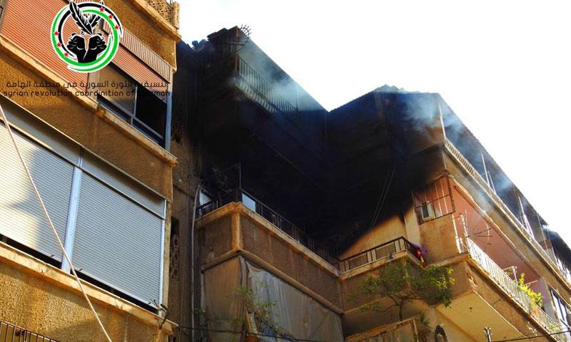 آثار الدمار في بلدة الهامة جراء قصف قوات الأسد- السبت 1 تشرين الأول (تنسيقية الهامة)