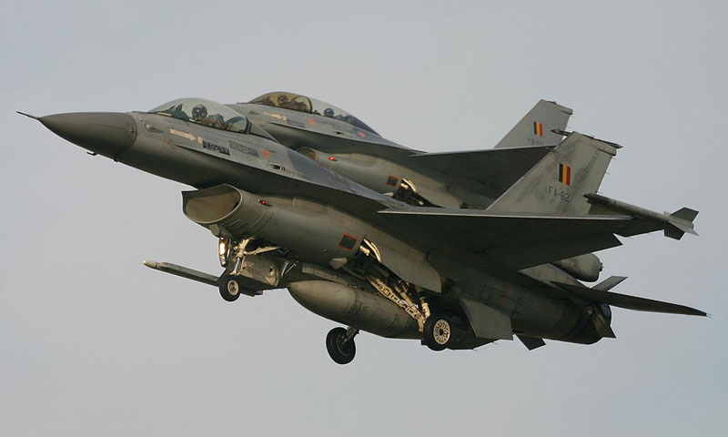 مقاتلات بلجيكية من طراز F16 (وكالات)