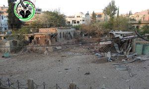 أضرار مادية في بلدة الهامة جراء القصف المدفعي- الاثنين 3 تشرين الأول (فيس بوك)