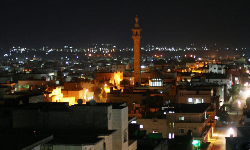 منظر ليلي لمدينة الباب- أيلول 2015 (تنظيم الدولة)