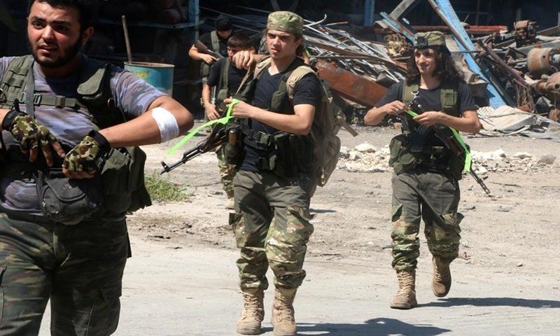 قوات من الجيش الحر في ريف حلب الشمالي (انترنت)
