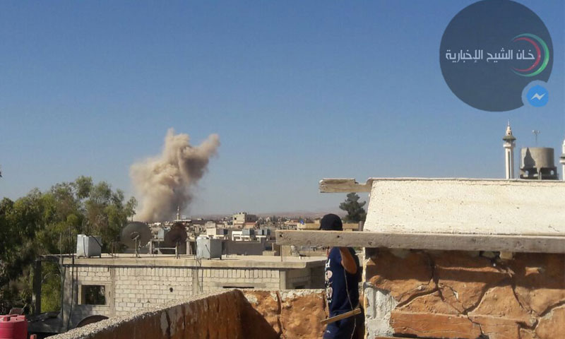 قصف خان الشيح بريف دمشق 30 أيلول 2016 (فيس بوك)