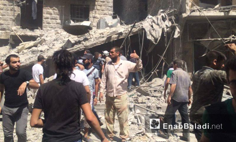 تعبيرية: أضرار مادية وضحايا مدنيون جراء استهداف حي المشهد بالبراميل المتفجرة- الخميس 21 تموز (عنب بلدي)