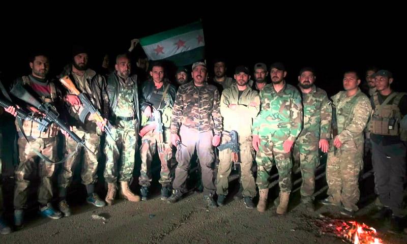 """صورة أرشيفية لمقاتلي """"الجيش الحر"""" في ريف حلب الشمالي."""