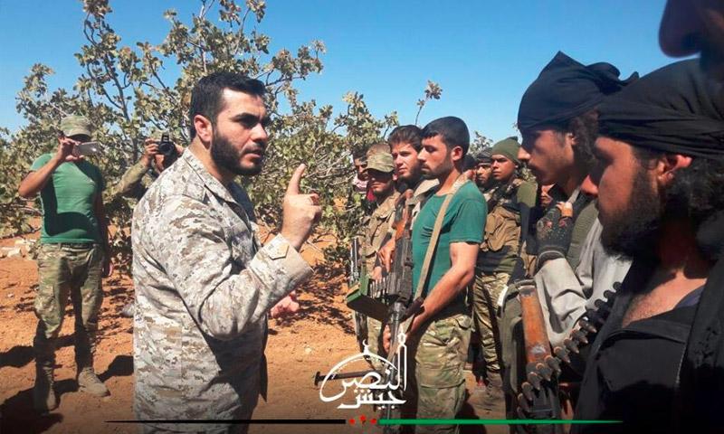 """الرائد محمد المنصور، القائد العام لـ""""جيش النصر"""" - 10 تشرين الأول (جيش النصر)"""