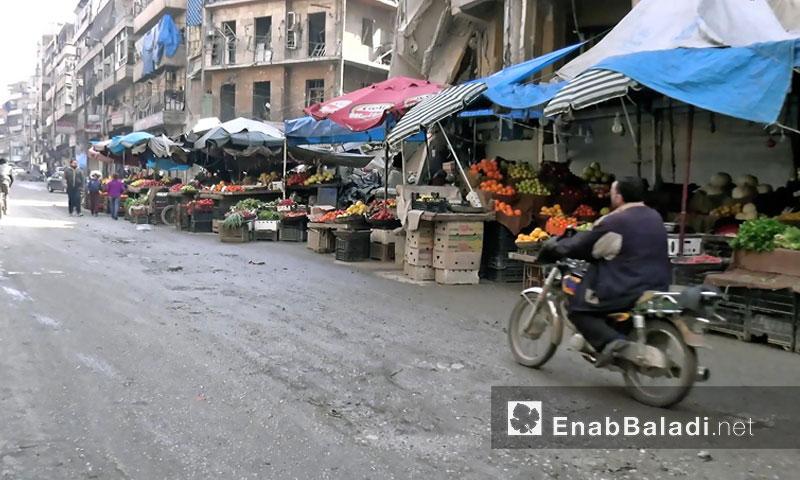 سوق في مدينة حلب آب 2016 (عنب بلدي)
