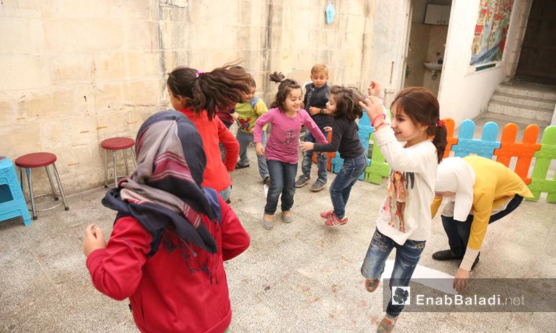"""نشاط في مركز """"بسمة وزيتونة"""" في غازي عنتاب التركية - تشرين الأول 2016 (عنب بلدي)"""