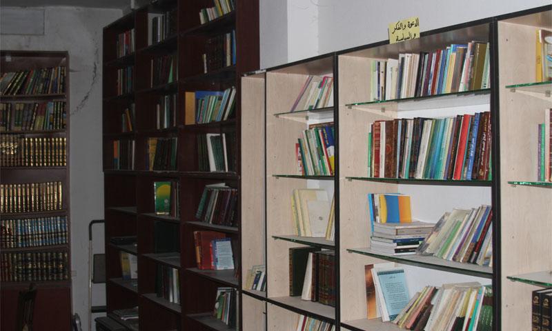 مكتبة فجر الأمة في مدينة داريا (أرشيفية)