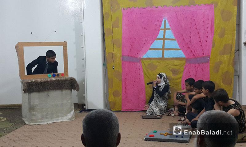 من مسرحية شعب حسب الطلب في الغوطة الشرقية - الثلاثاء 18 تشرين الأول (عنب بلدي)