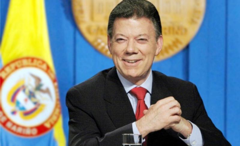 الرئيس الكولمبي خوان مانويل سانتوس