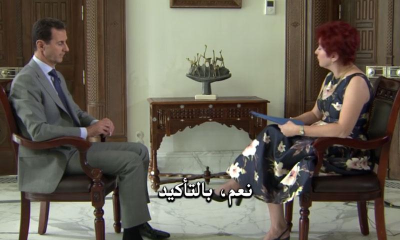 مقابلة الأسد مع صحيفة روسية- الخميس 13 تشرين الأول (يوتيوب)