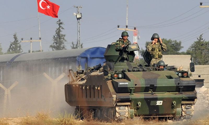 دبابة تركية ضمن الأراضي السورية في محافظة حلب- أيلول 2016 (وكالات)