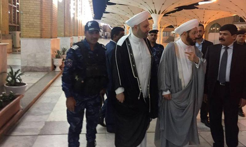 """حسون يزور جامعة """"الإمام الأعظم"""" في بغداد- الثلاثاء 4 تشرين الأول (فيس بوك)"""
