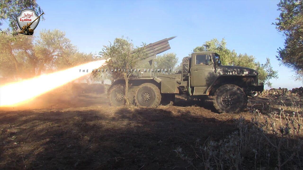 راجمة صواريخ لدى الجيش الحر استحوذ عليها من قوات الأسد - تشرين الأول 2016 (الفوج الأول مدفعية)