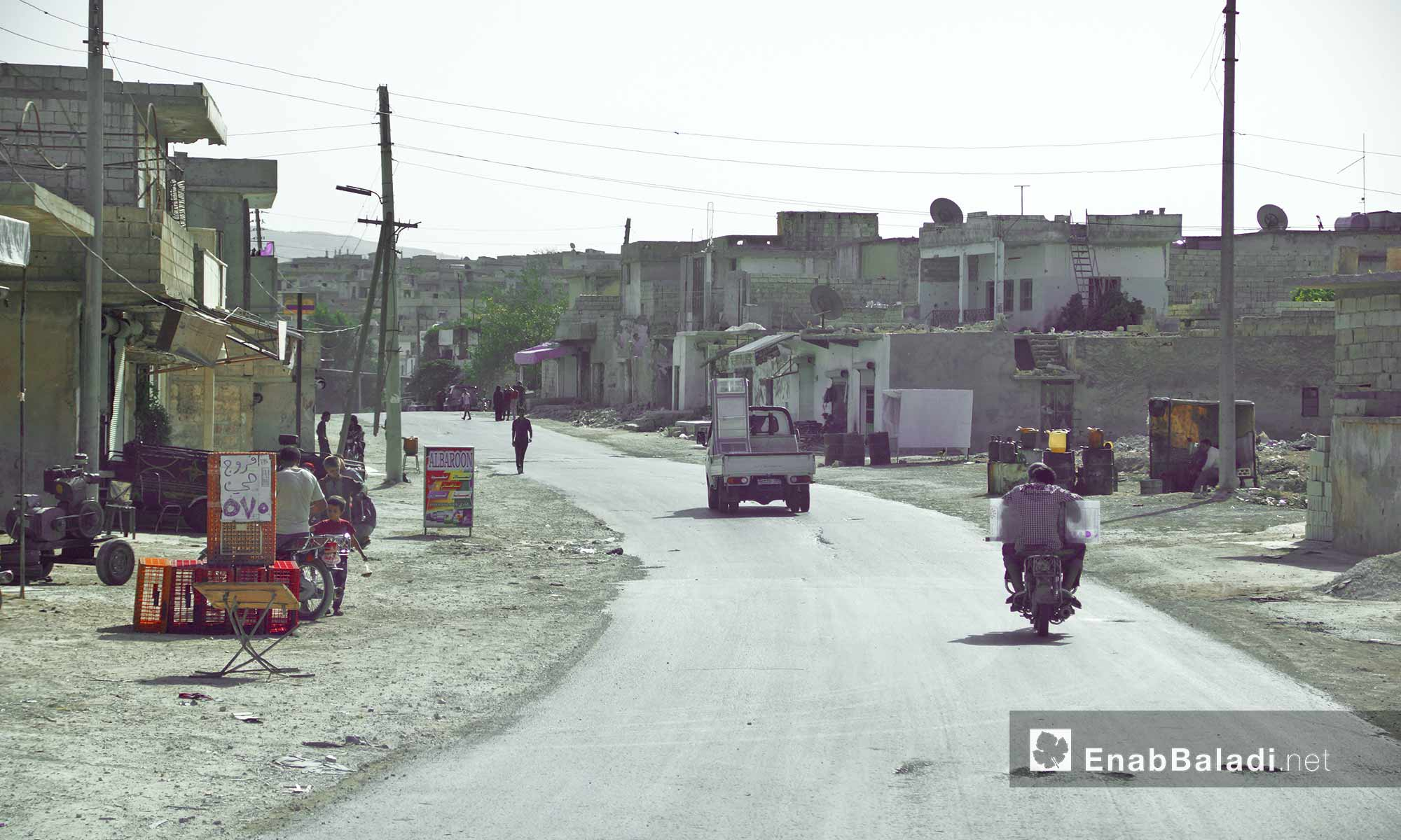 بلدة المسطومة في ريف إدلب الجنوبي - 14 تشرين الأول 2016 (عنب بلدي)