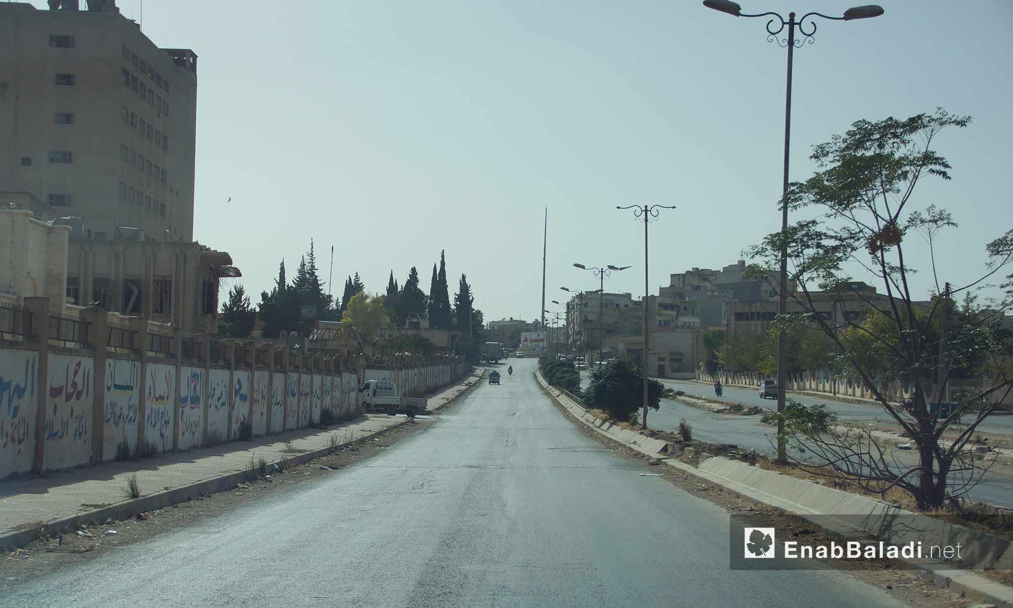 أول طريق إدلب من الجهة الشرقية - 14 تشرين الأول 2016 (عنب بلدي)