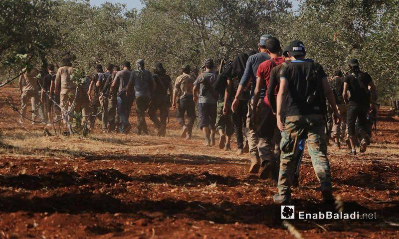 """عناصر من لواء """"المقداد بن عمرو"""" في ريف إدلب الشمالي- تشرين الأول (عنب بلدي)"""