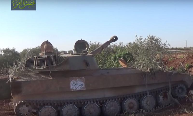 """مدفعية """"جيش العزة"""" تستهدف مواقع قوات الأسد في قرية تل ملح بريف حماة- الأربعاء 5 تشرين الأول (يوتيوب)"""