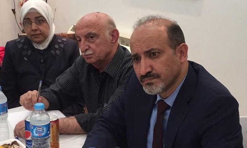أحمد الجربا خلال استقباله وفدًا من الجالية السورية في مصر- الخميس 13 تشرين الأول (تيار الغد)