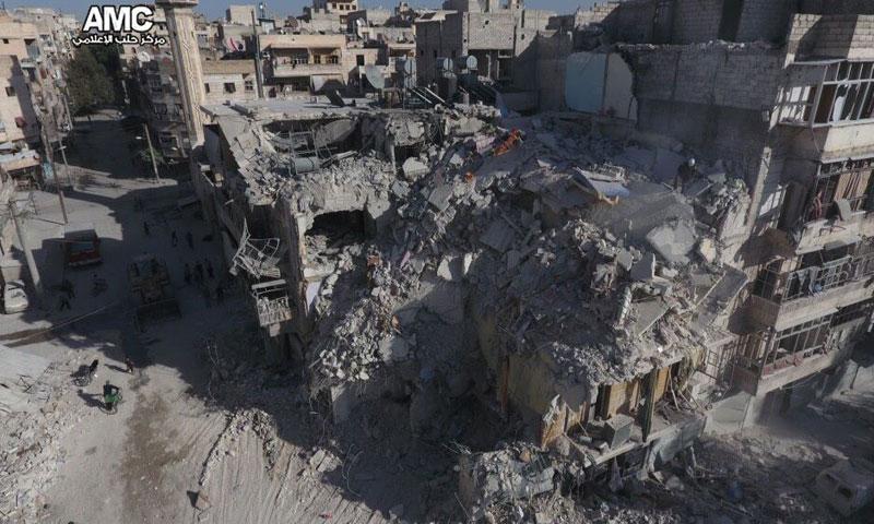 آثار الدمار في مدينة حلب- تشرين الأول 2016 (مركز حلب الإعلامي)