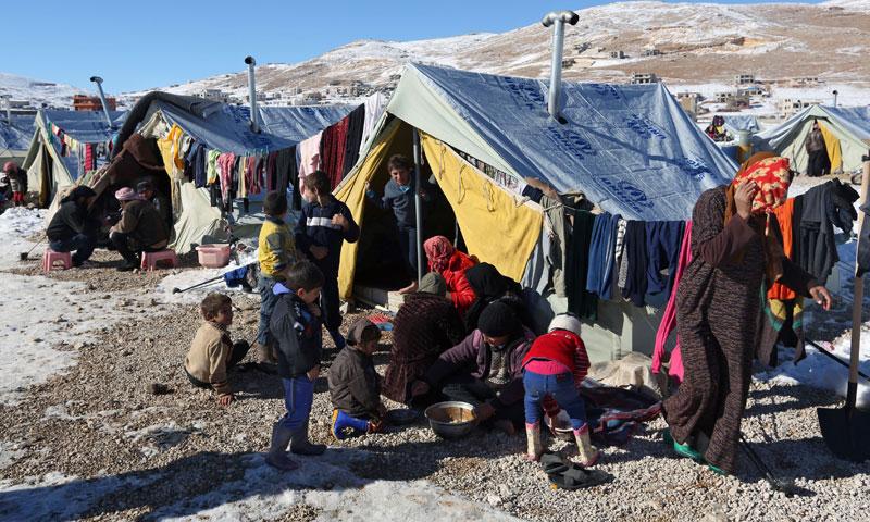مخيمات للاجئين السوريين في لبنان (وكالات)