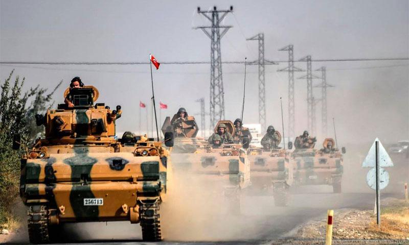 توغل القوات التركية داخل الأراضي السورية ضمن غرفة عمليات درع الفرات 26 آب AFP.