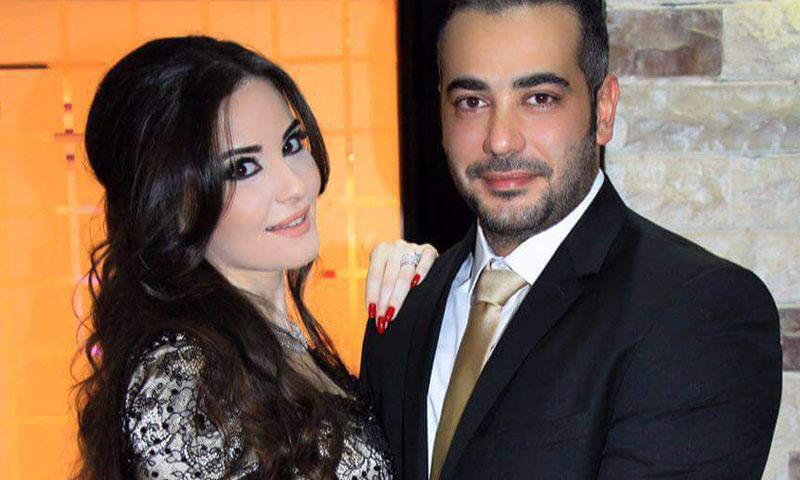 صيد الأسد وزوجها فادي البيروتي (فيس بوك)