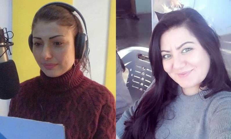 آفا خانو (يمين الصورة) ونوشين أحمد