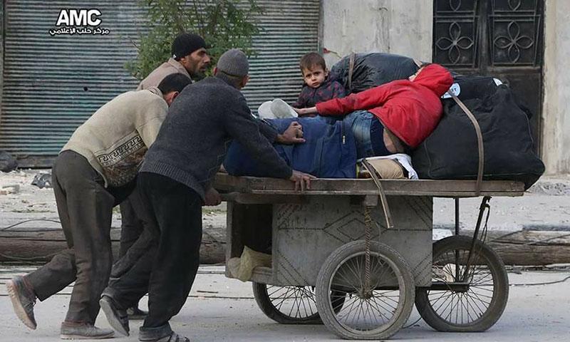 فرار العائلات من حلب الشرقية- الثلاثاء 29 تشرين الثاني (مركز حلب الإعلامي)