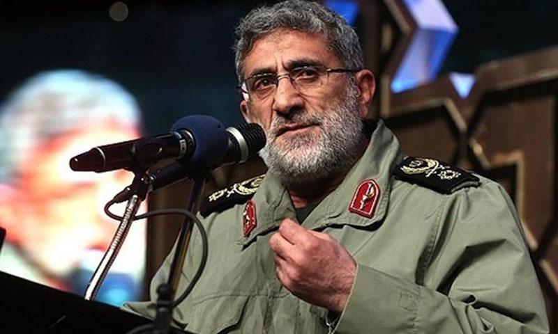 """العميد إسماعيل قاآني، نائب قائد """"فيلق القدس"""" التابع لـ """"الحرس الثوري"""" الإيراني (وكالات)"""