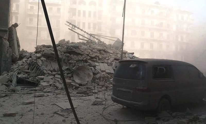 آثار القصف على حي الشعار في حلب - 16 تشرين الثاني 2016 (فيس بوك)