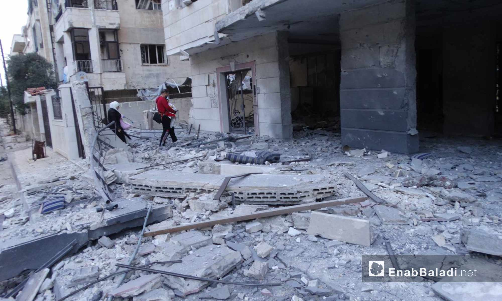 أهالي حي الوعر في حمص يعودون إلى منازلهم بعد استهدافها من قبل قوات الأسد - 16 تشرين الثاني 2016 (عنب بلدي)