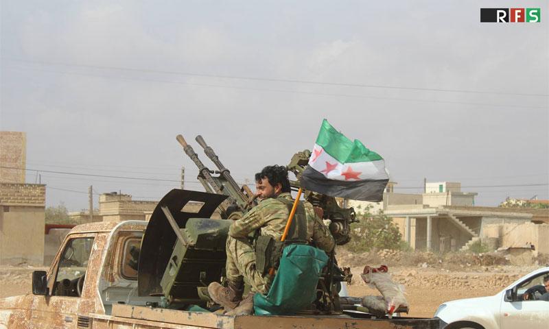 عناصر من الجيش الحر في ريف حلب الشمالي- 17 تشرين الأول (المكتب الإعلامي لقوى الثورة)